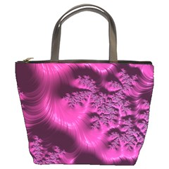 Fractal Artwork Pink Purple Elegant Bucket Bags