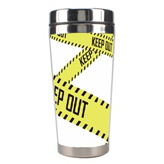 Keep Out Police Line Yellow Cross Entry Stainless Steel Travel Tumblers