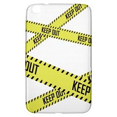 Keep Out Police Line Yellow Cross Entry Samsung Galaxy Tab 3 (8 ) T3100 Hardshell Case