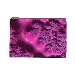 Fractal Artwork Pink Purple Elegant Cosmetic Bag (large)