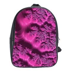 Fractal Artwork Pink Purple Elegant School Bags(large)