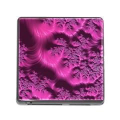 Fractal Artwork Pink Purple Elegant Memory Card Reader (Square)