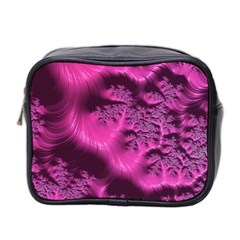 Fractal Artwork Pink Purple Elegant Mini Toiletries Bag 2-Side
