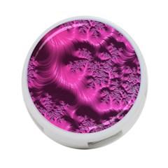 Fractal Artwork Pink Purple Elegant 4 Port Usb Hub (one Side)