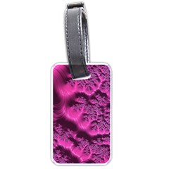 Fractal Artwork Pink Purple Elegant Luggage Tags (One Side)