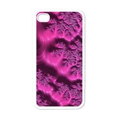 Fractal Artwork Pink Purple Elegant Apple Iphone 4 Case (white)