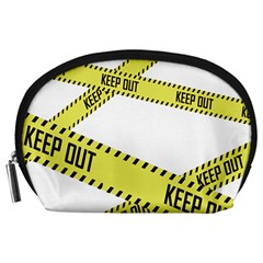 Keep Out Police Line Yellow Cross Entry Accessory Pouches (large)