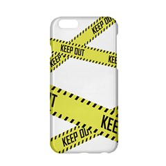 Keep Out Police Line Yellow Cross Entry Apple iPhone 6/6S Hardshell Case