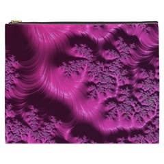 Fractal Artwork Pink Purple Elegant Cosmetic Bag (xxxl)