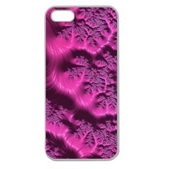 Fractal Artwork Pink Purple Elegant Apple Seamless Iphone 5 Case (clear)