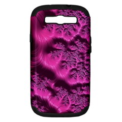 Fractal Artwork Pink Purple Elegant Samsung Galaxy S Iii Hardshell Case (pc+silicone)