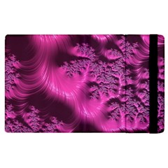 Fractal Artwork Pink Purple Elegant Apple Ipad 2 Flip Case