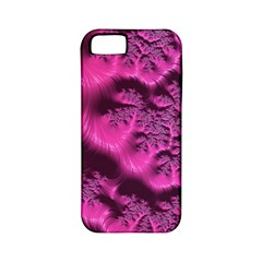 Fractal Artwork Pink Purple Elegant Apple Iphone 5 Classic Hardshell Case (pc+silicone)