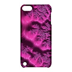 Fractal Artwork Pink Purple Elegant Apple Ipod Touch 5 Hardshell Case With Stand