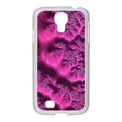 Fractal Artwork Pink Purple Elegant Samsung Galaxy S4 I9500/ I9505 Case (white)