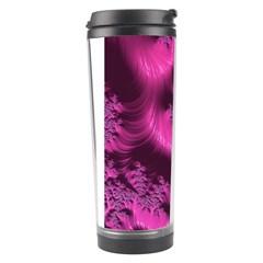 Fractal Artwork Pink Purple Elegant Travel Tumbler