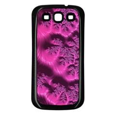 Fractal Artwork Pink Purple Elegant Samsung Galaxy S3 Back Case (black)