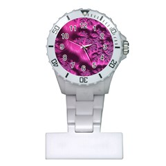 Fractal Artwork Pink Purple Elegant Plastic Nurses Watch
