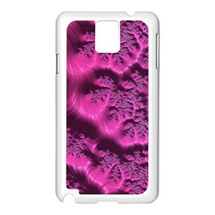 Fractal Artwork Pink Purple Elegant Samsung Galaxy Note 3 N9005 Case (white)