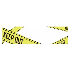 Keep Out Police Line Yellow Cross Entry Satin Scarf (Oblong)