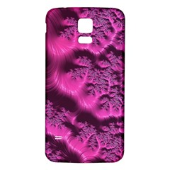 Fractal Artwork Pink Purple Elegant Samsung Galaxy S5 Back Case (white)