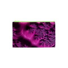 Fractal Artwork Pink Purple Elegant Cosmetic Bag (xs)