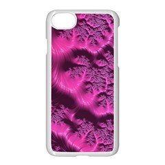 Fractal Artwork Pink Purple Elegant Apple Iphone 7 Seamless Case (white)