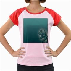 Leaf Green Blue Branch  Texture Thread Women s Cap Sleeve T Shirt