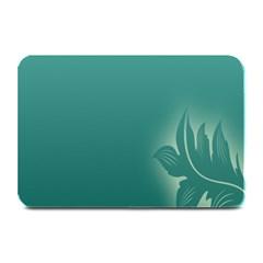 Leaf Green Blue Branch  Texture Thread Plate Mats