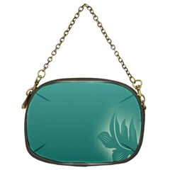 Leaf Green Blue Branch  Texture Thread Chain Purses (Two Sides)