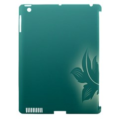 Leaf Green Blue Branch  Texture Thread Apple Ipad 3/4 Hardshell Case (compatible With Smart Cover)