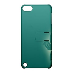 Leaf Green Blue Branch  Texture Thread Apple iPod Touch 5 Hardshell Case with Stand