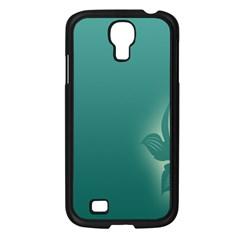 Leaf Green Blue Branch  Texture Thread Samsung Galaxy S4 I9500/ I9505 Case (black)