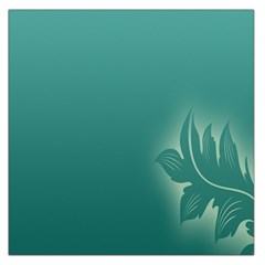 Leaf Green Blue Branch  Texture Thread Large Satin Scarf (square)