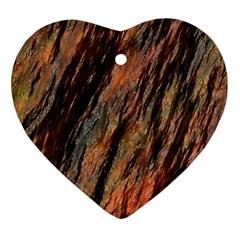 Texture Stone Rock Earth Ornament (heart)