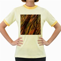 Texture Stone Rock Earth Women s Fitted Ringer T Shirts