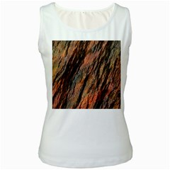 Texture Stone Rock Earth Women s White Tank Top