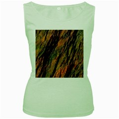 Texture Stone Rock Earth Women s Green Tank Top
