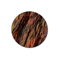 Texture Stone Rock Earth Rubber Round Coaster (4 Pack)