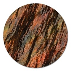 Texture Stone Rock Earth Magnet 5  (Round)