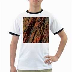 Texture Stone Rock Earth Ringer T Shirts
