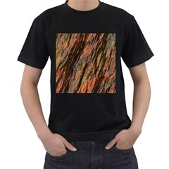 Texture Stone Rock Earth Men s T Shirt (black) (two Sided)