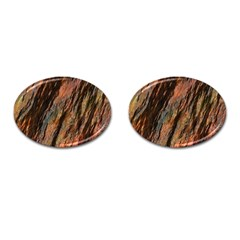 Texture Stone Rock Earth Cufflinks (oval)