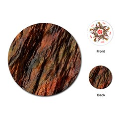 Texture Stone Rock Earth Playing Cards (round)