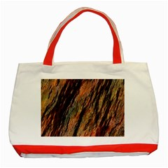 Texture Stone Rock Earth Classic Tote Bag (red)
