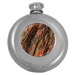Texture Stone Rock Earth Round Hip Flask (5 Oz)