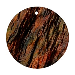 Texture Stone Rock Earth Round Ornament (two Sides)