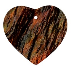 Texture Stone Rock Earth Heart Ornament (two Sides)