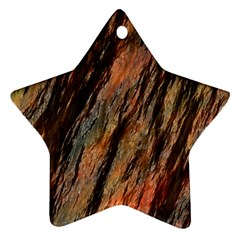 Texture Stone Rock Earth Star Ornament (two Sides)