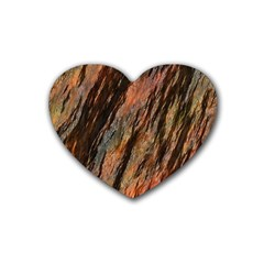 Texture Stone Rock Earth Heart Coaster (4 Pack)